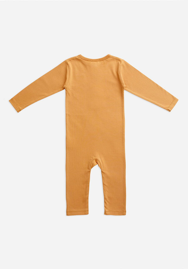 Miann & Co Baby - Organic Baby Cotton Basics - Full Sleeve Jumpsuit - Clay