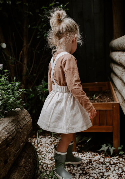 Miann & Co Kids - Pinafore - Natural Linen