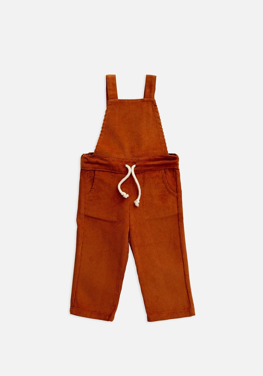 kids rust ginger overalls