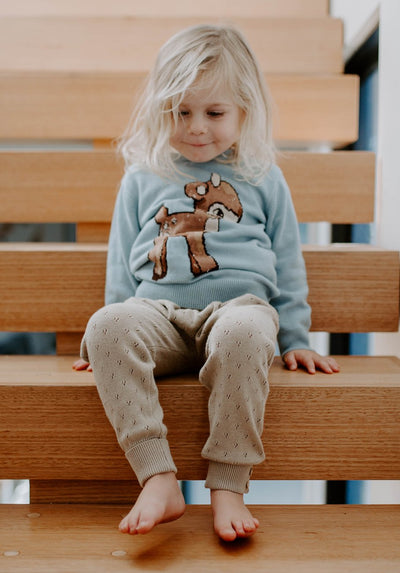 Miann & Co Kids - Knit Pointelle Legging - Clay