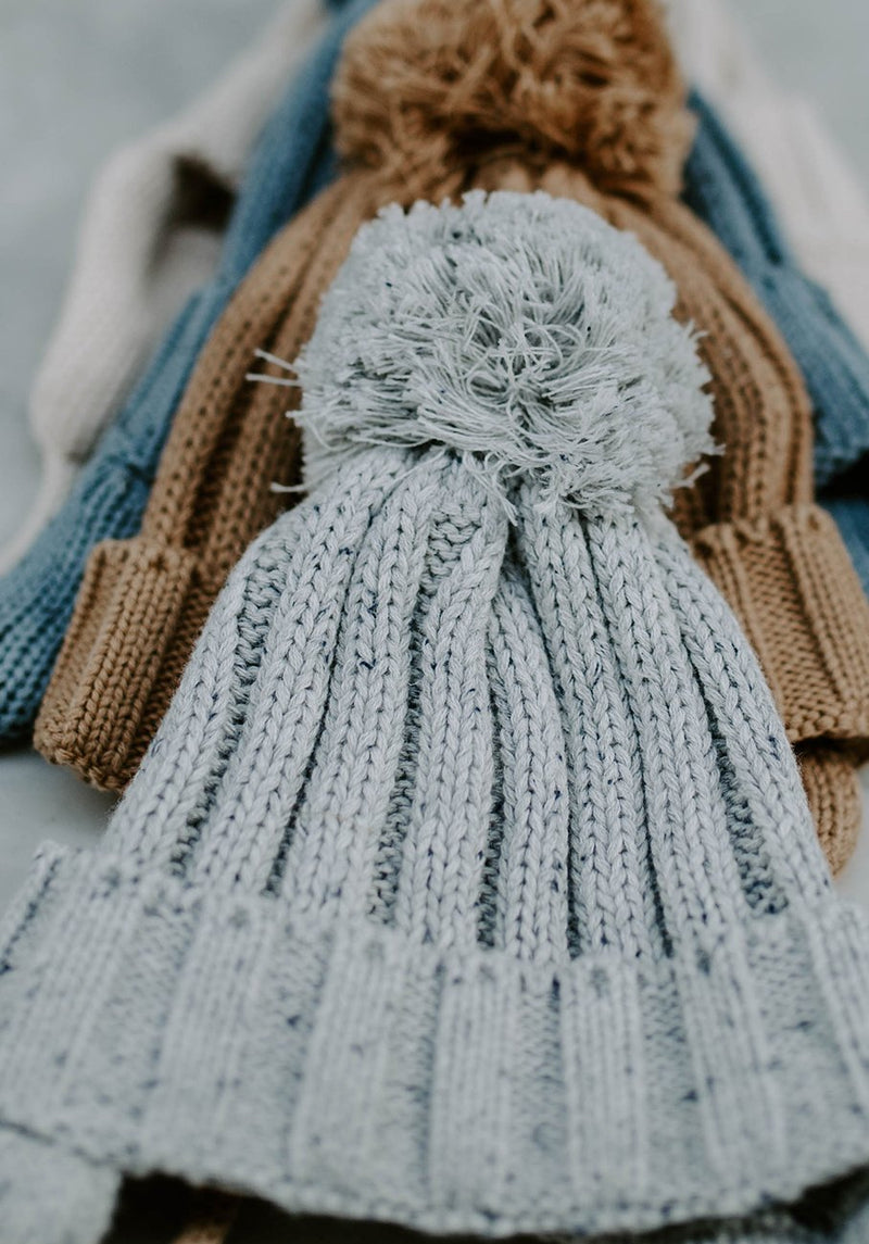 Miann & Co Baby - Rib Knit Beanie - Grey Speckle