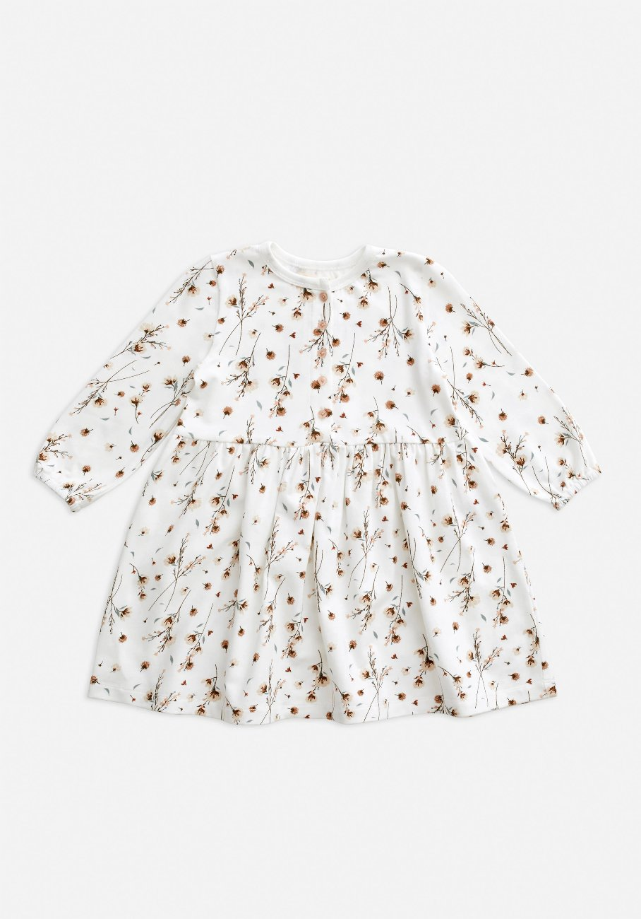 Miann & Co Baby - Long Sleeve Dress - Snow Blossom