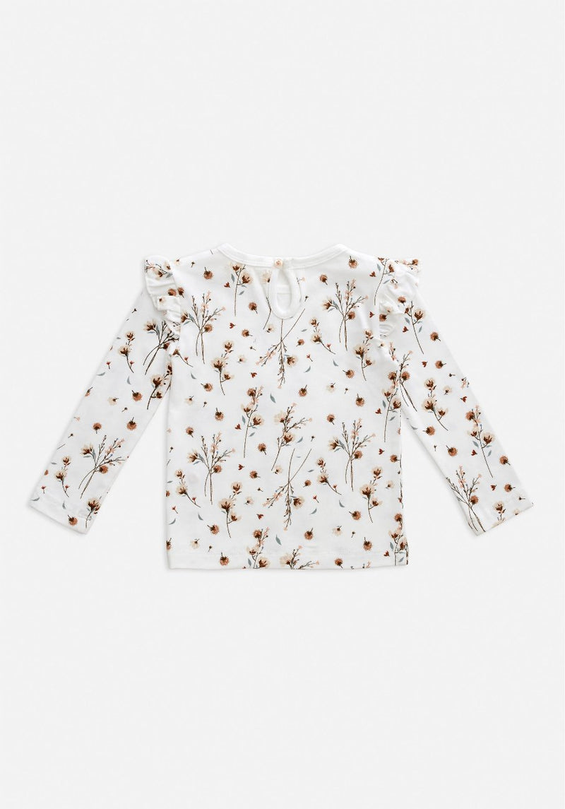 Miann & Co Baby - Long Sleeve Frill Top - Snow Blossom