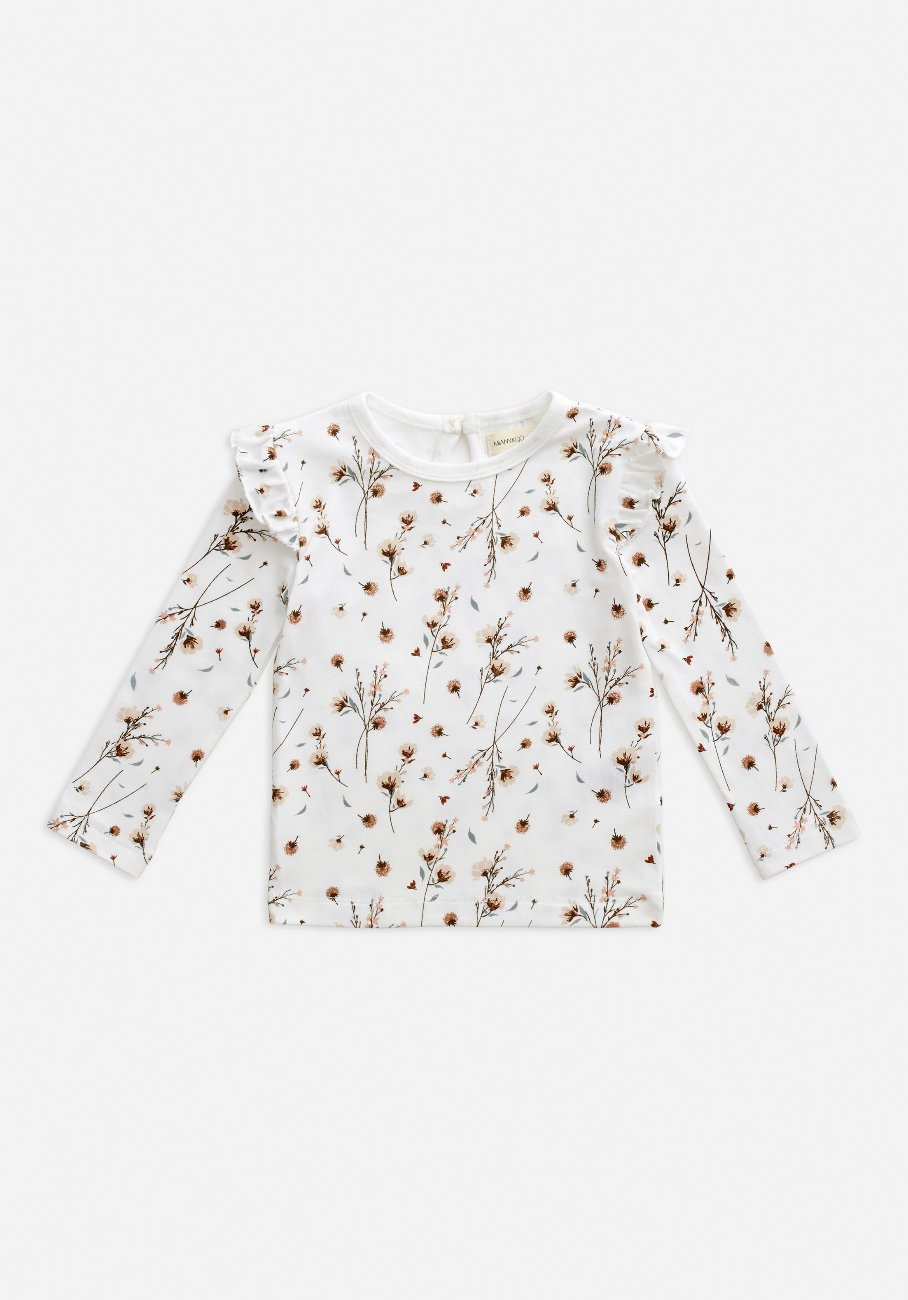 Miann & Co Kids - Long Sleeve Frill Top - Snow Blossom