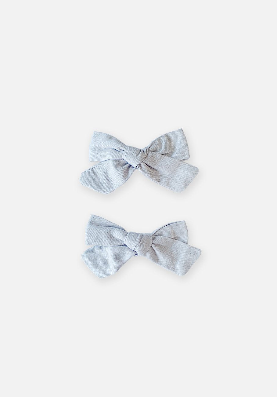 Large Bow Clip - Dove Drey