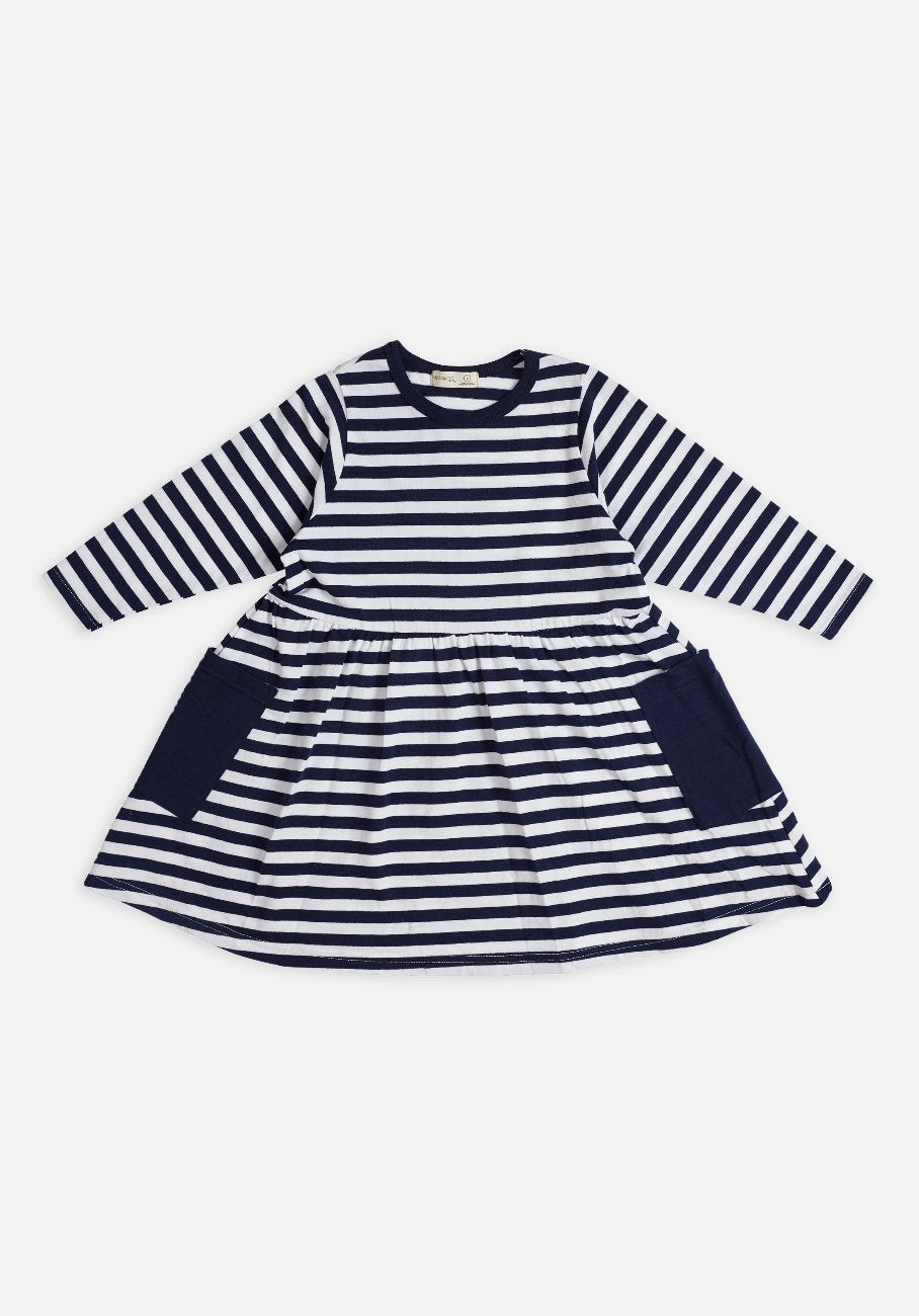 Miann & Co Kids - Dress - Classic Navy Stripe