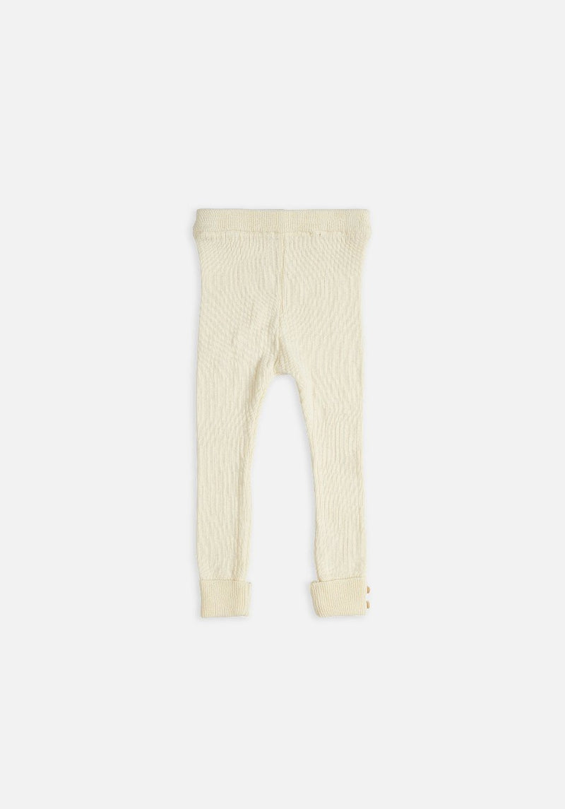 kids cream rib legging
