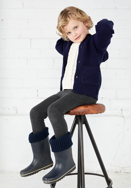 MIANN & CO KIDS KNIT PANTS - CHARCOAL