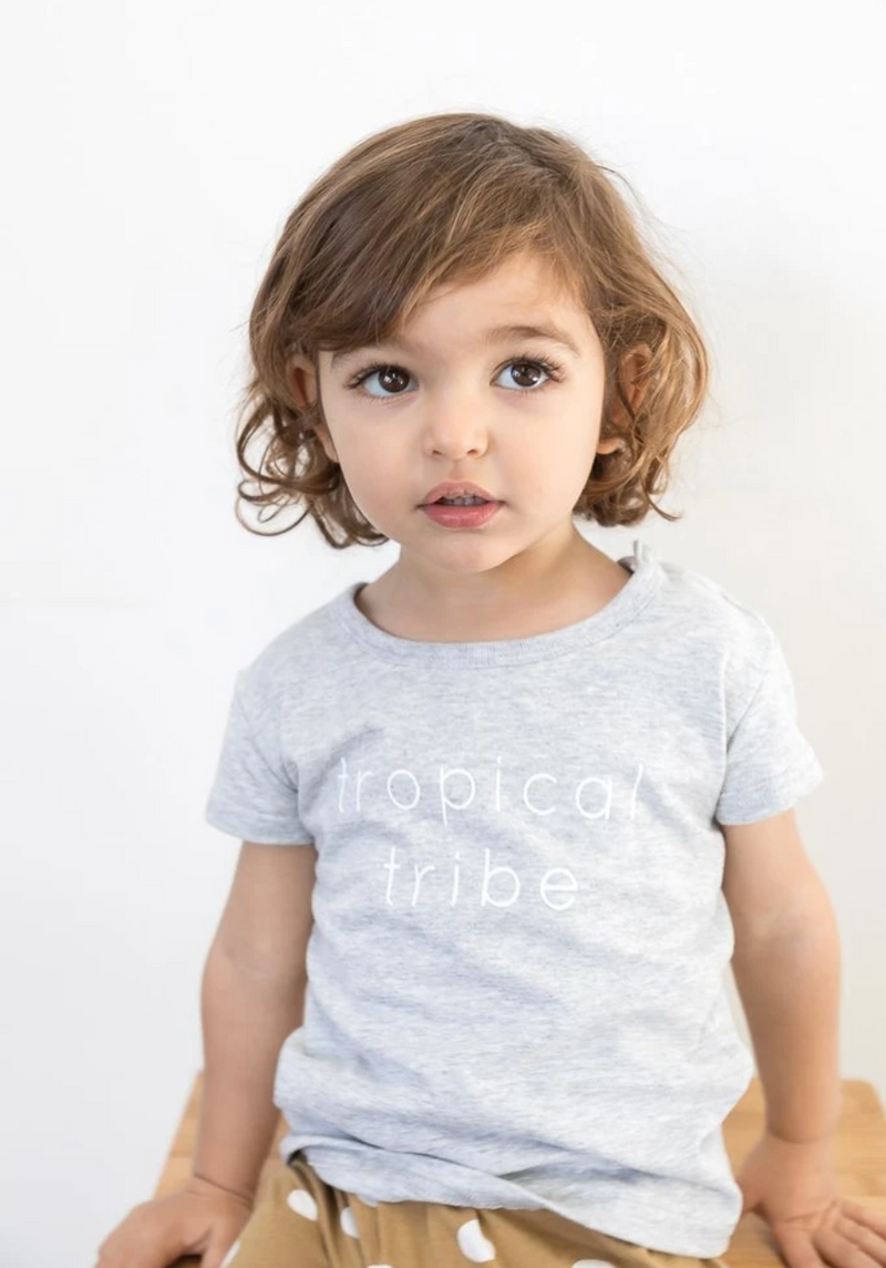 kids grey tropical t-shirt