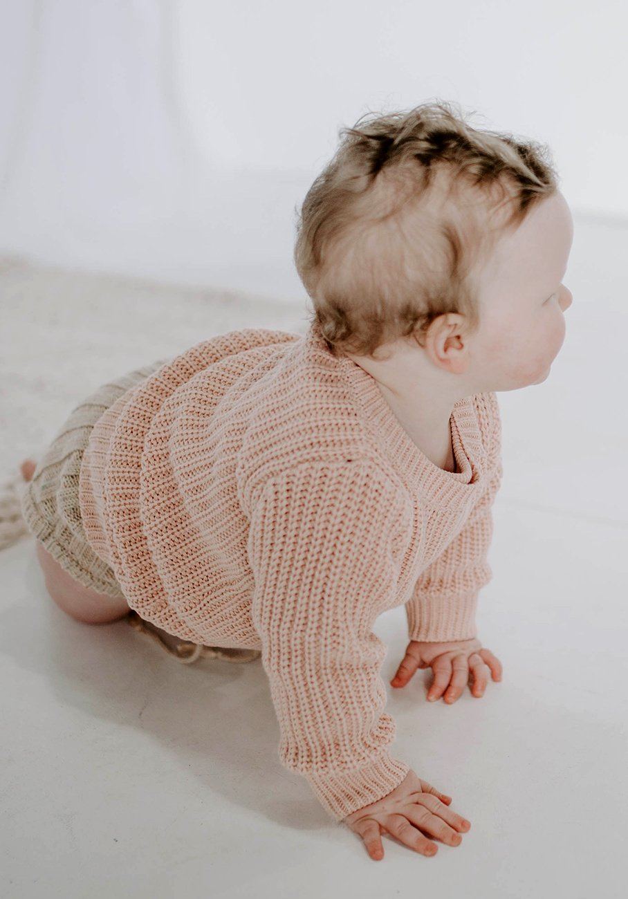 baby pink rosewater knit jumper