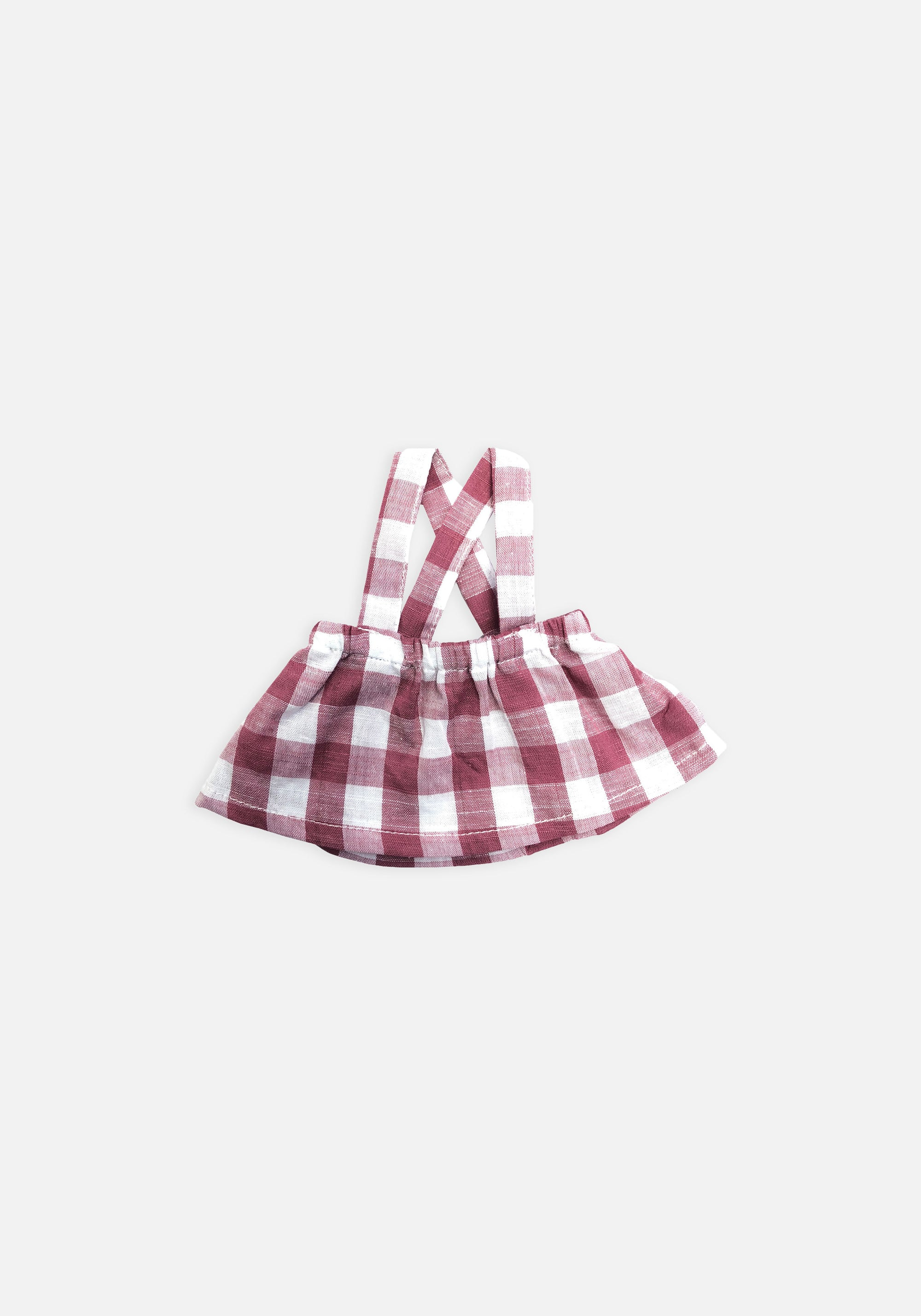 Large Softie Outfit - Pink Gingham Skirt - MIANN & CO