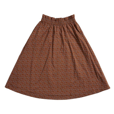 Womens rust floral skirt
