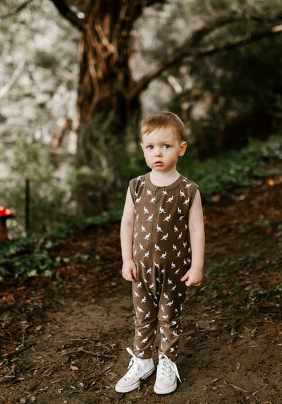 Miann & Co - Kids Sleeveless suit - Portebello Mini Kangaroo - MIANN & CO