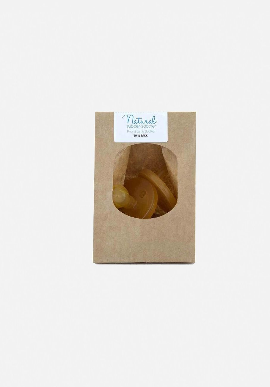Natural Rubber Soother - Round Small (0-3 Month) Twin Pack - Eco Packaging