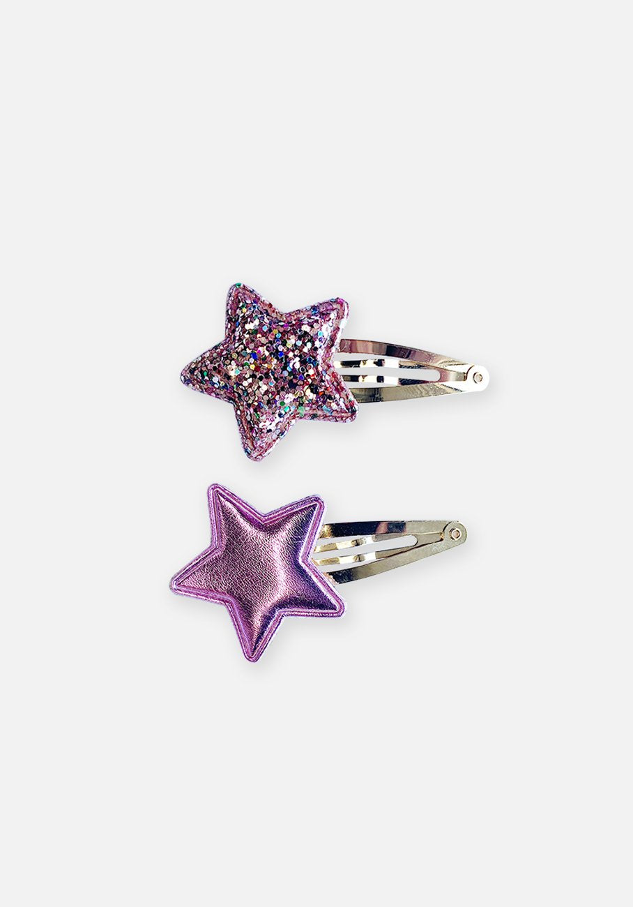 Small Hair Clip - Pink Star