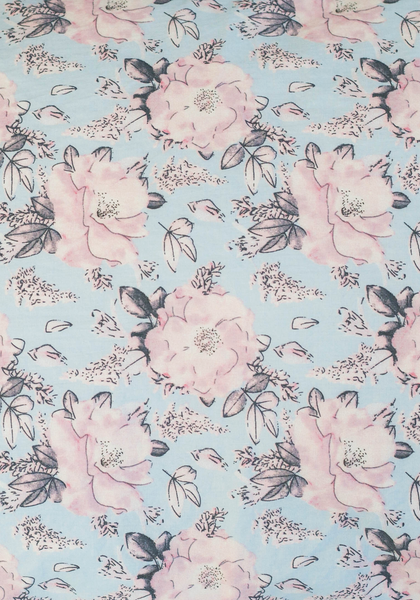 Miann & Co - Fitted Cot Sheet - Rose Print