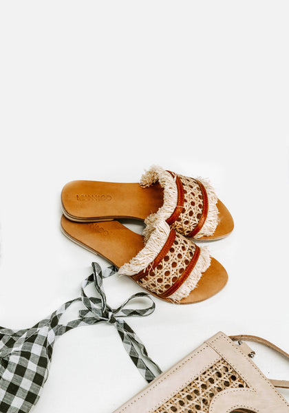 Miann & Co Womens - Footwear - Rattan Slides