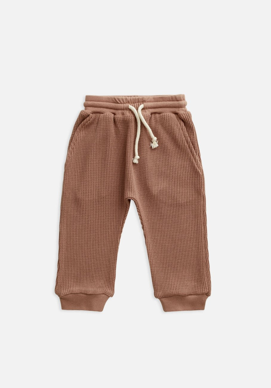 Miann & Co Baby - Waffle Harem Pants - Butterscotch