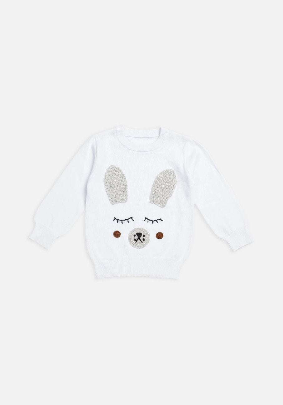 Miann & Co Kids - Jumper - White Bunny Rabbit