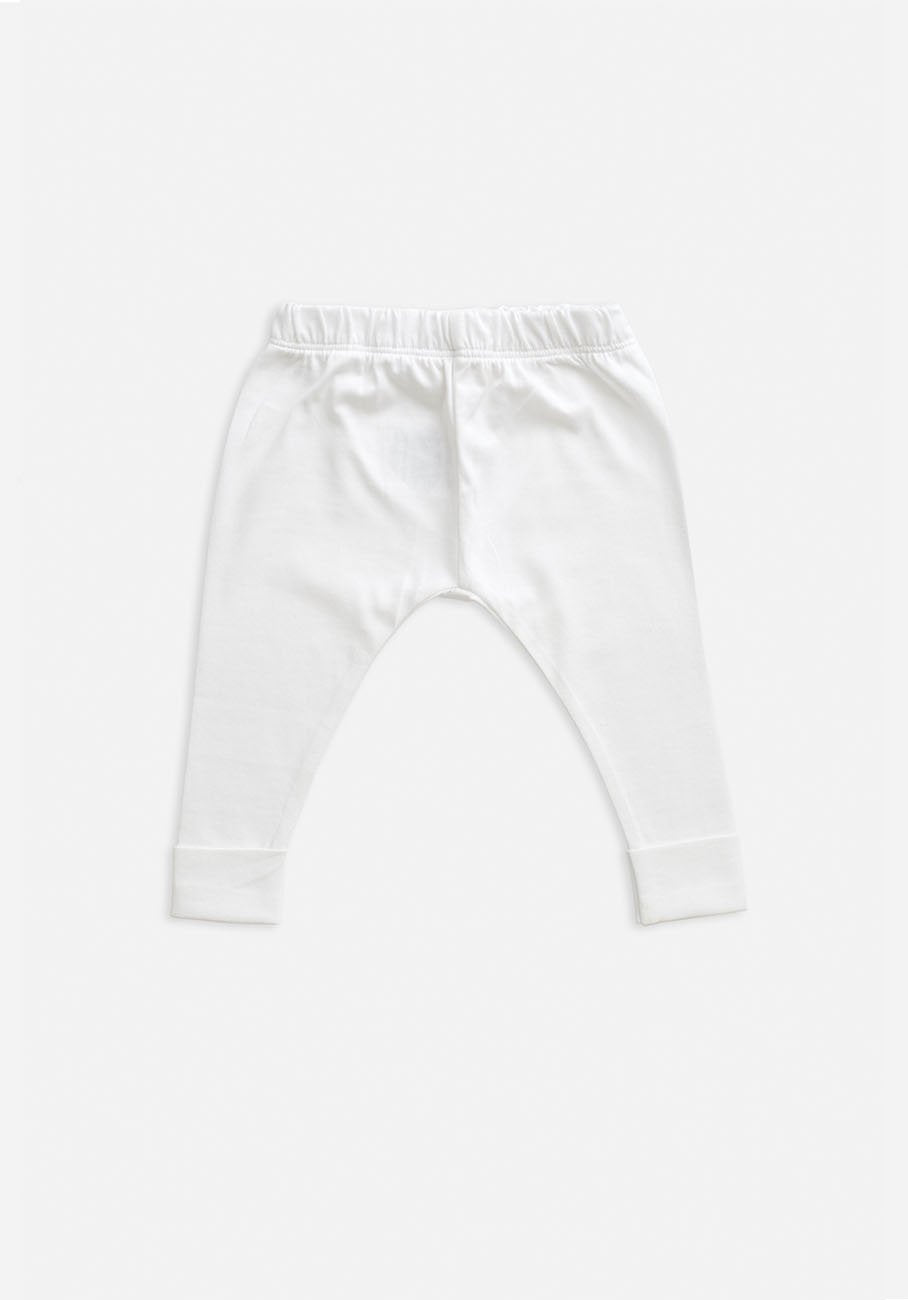 kids organic white legging