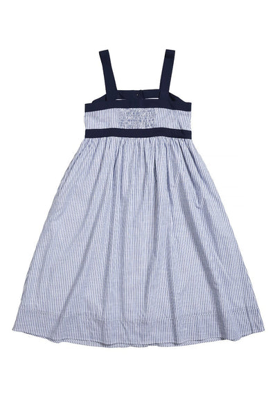 Womens navy stripe dress
