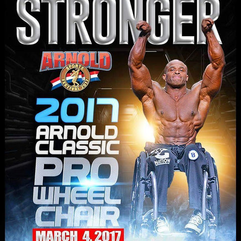 2017 Arnold Classic Pro Wheel Chair Harold Kelley owner of Kingkongnation.com