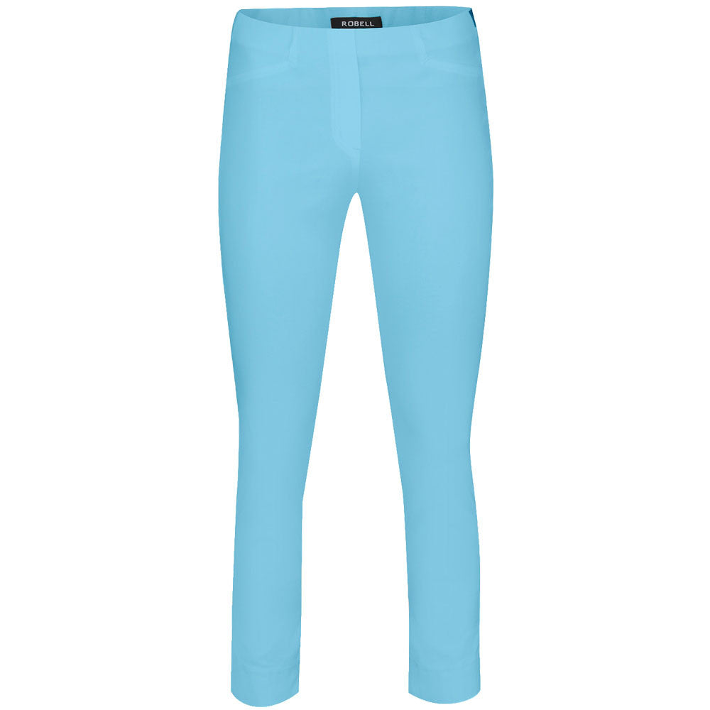 Rose 09 Crop Trousers, Turquoise- Robell