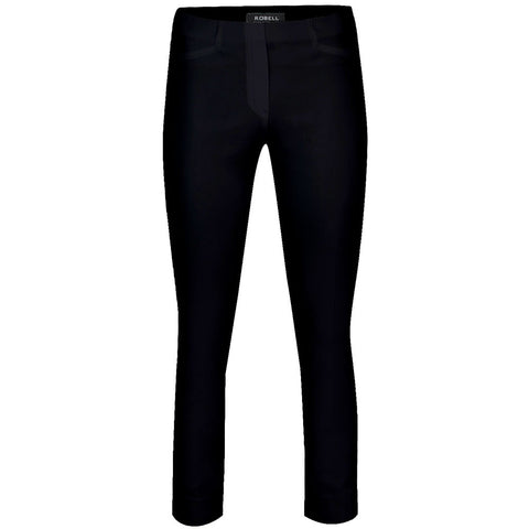 Rose 09, Crop Trouser, Black- Robell