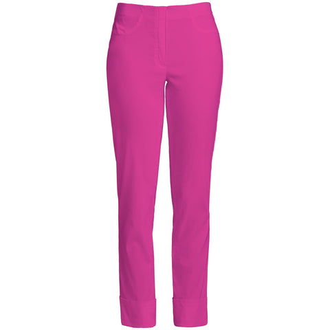 Bella 09 Turn up Trousers, Magneta- Robell