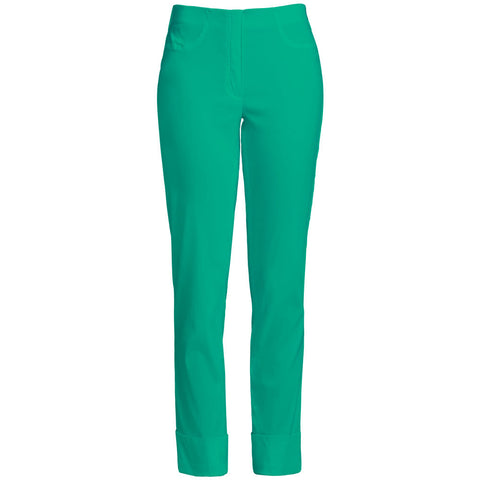 Bella 09 Turn up Trouser, Golf Green- Robell