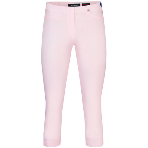 Rose 07, Crop Trousers, Baby Pink-  Robell