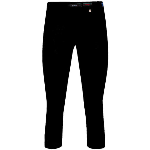 Rose 07, Crop Trousers, Black -Robell Trousers