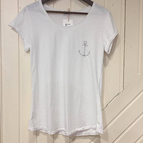 Anchor T-shirt, White- Luella