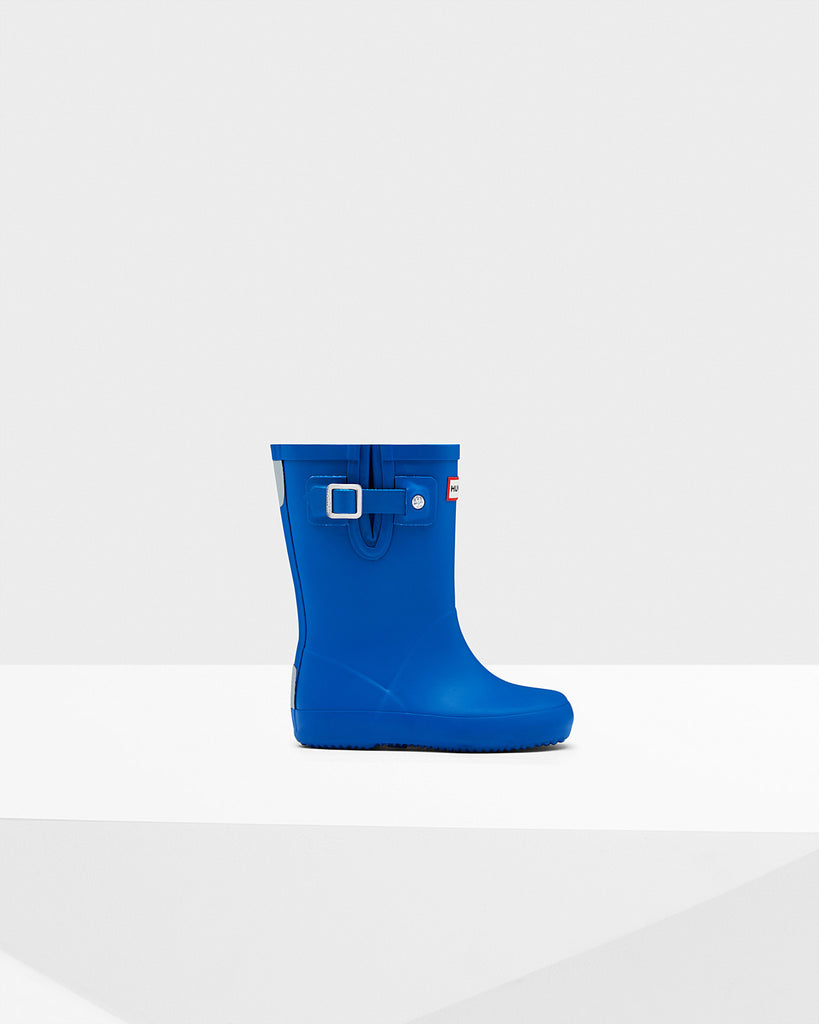 Kids Flat Sole Boots - AZURE, HUNTER