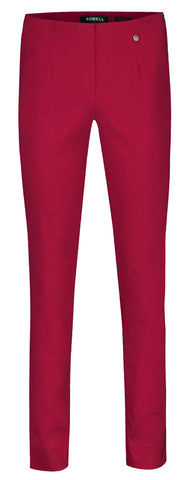 BELLA - RED, Winter Bengaline Stretch - Robell Trousers