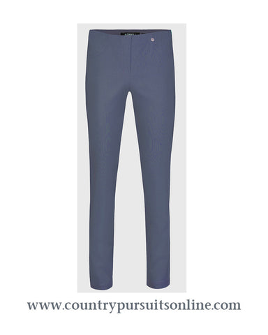 BELLA - STEEL BLUE, Winter Bengaline Stretch - Robell Trousers