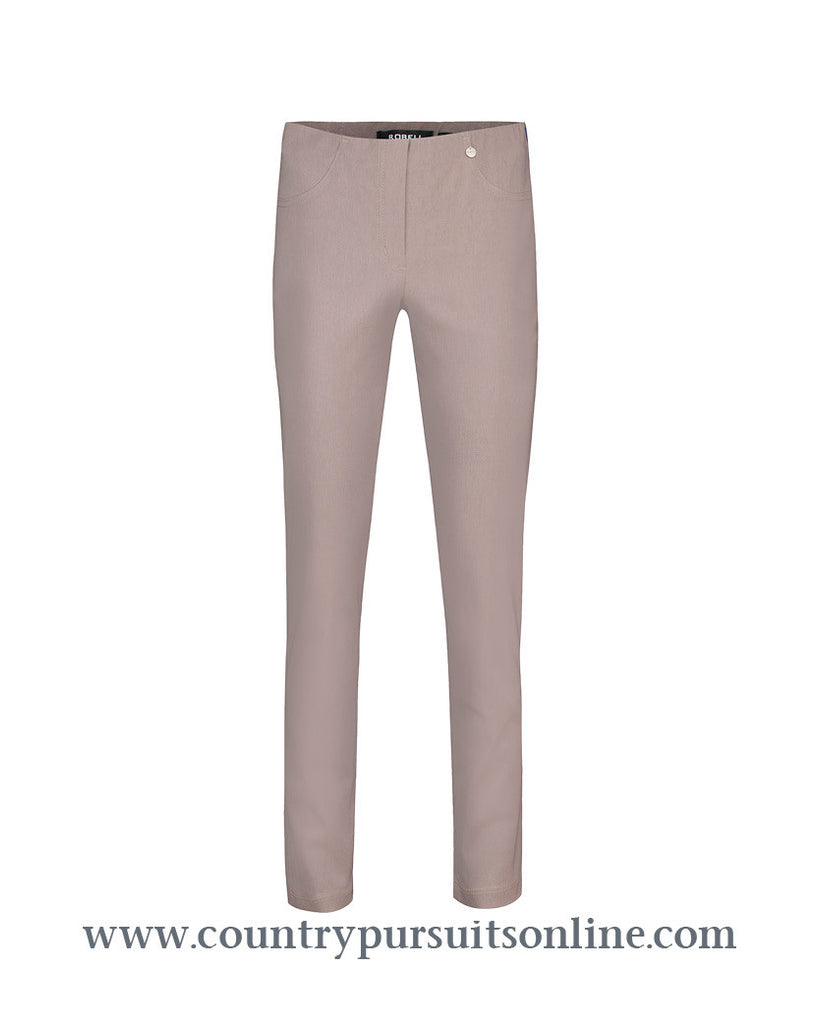 BELLA - ALMOND, Winter Bengaline Stretch - Robell Trousers