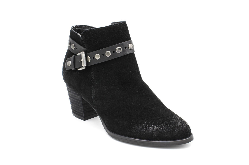 Willow Side Zip Ankle Boot, Suede, Black