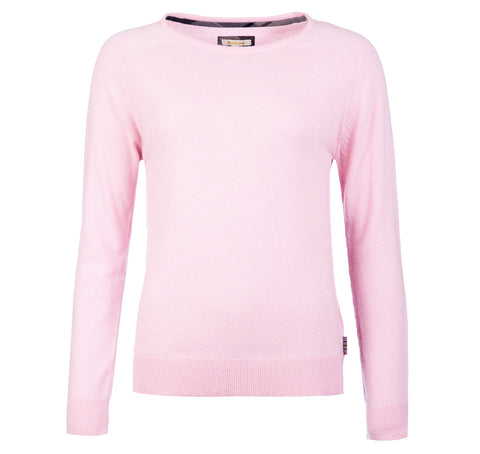 Mill Crew Jumper, Rose Pink - BARBOUR