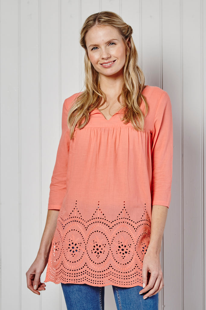 Lily and me Torpoint tunic - Coral
