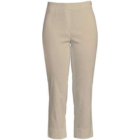 Marie 07, Crop Trousers, Beige - Robell