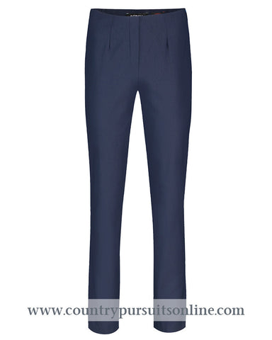 MARIE - NAVY, Winter Bengaline Stretch - Robell Trousers