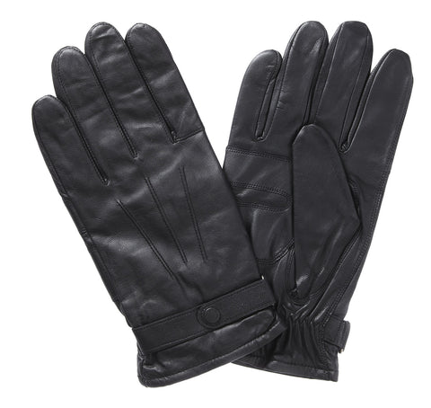 Burnished Leather Thinsulate Glove, BLACK - BARBOUR