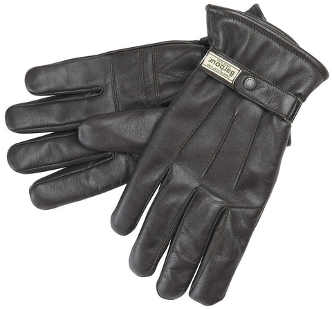 Burnished Leather Thinsulate Glove, BROWN - BARBOUR