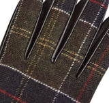 Tartan Gloves Leather, Black/Classic - BARBOUR