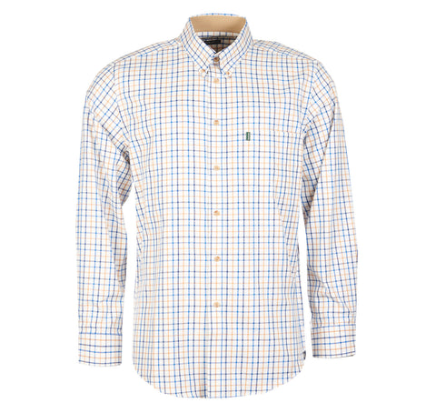 Sporting Tattersall Shirt, Blue - BARBOUR