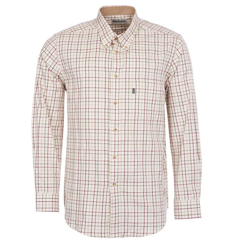 Sporting Tattersall Shirt, Red - BARBOUR
