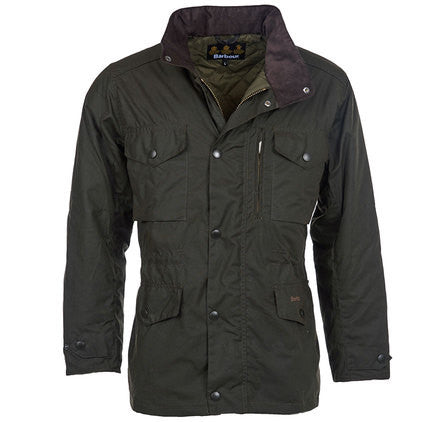 Sapper Waxed Jacket, Olive - BARBOUR