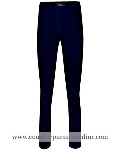 ROSE - BLACK Bengaline Stretch - ROBELL TROUSERS