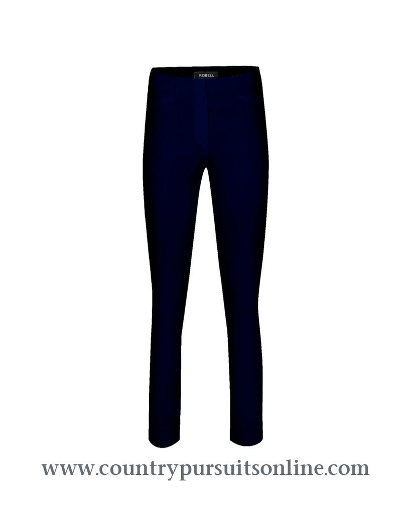 BELLA - BLACK, Bengaline Stretch - Robell Trousers